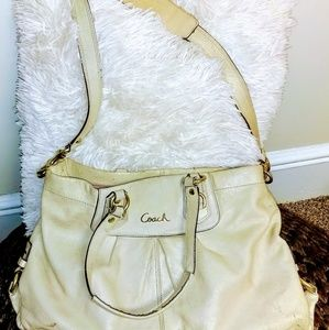 Cream Coach Purse
